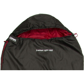 CAMPZ Trekker Light 300 Sac de couchage, anthracite/red